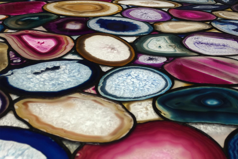 Achatverglasung- Verglasung aus Achatsteinen