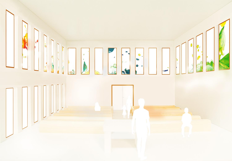 Glaskunstwerke für den Kircheninnenraum