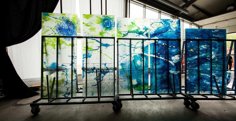 Glaskunstwerke Kunst am Bau Moderne Glasmalerei