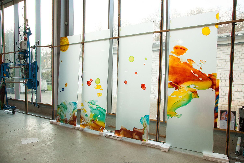 Glaskunstwerke Herbst Darstellung