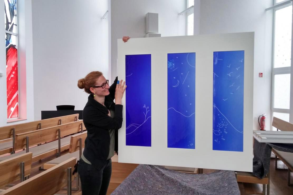 Glaskunstwerke für Kirche Porta Westfalica