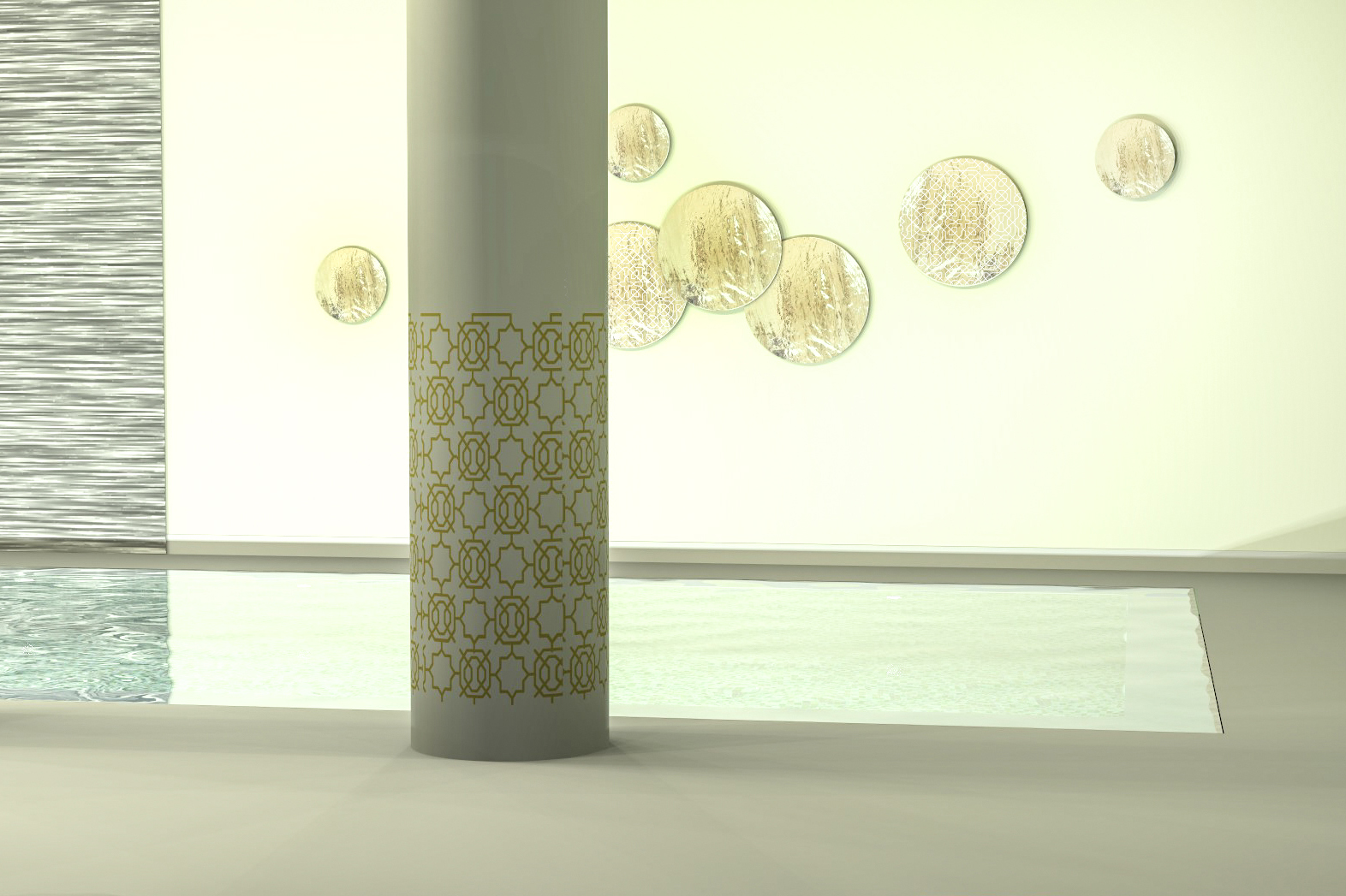 Wellness Spa Kunst mit Glas