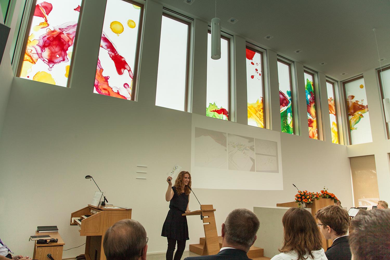 Glaskunstwerke,Schlüsselübergabe Kirche Greven, Schulz-Dievenow