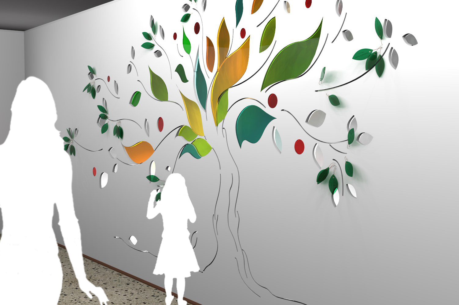 Visualisierung der Glaskunst im Foye