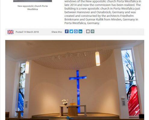 Zeitungsbericht über Glaskunstwerke.de