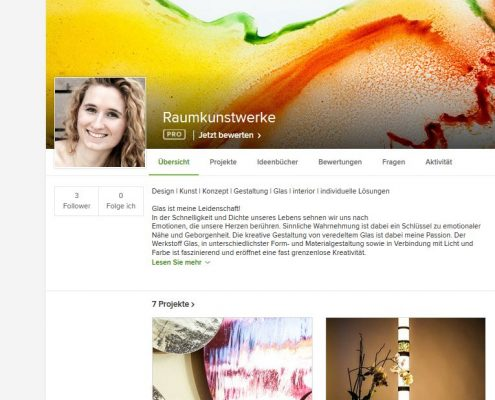 Houzz Profil Glaskunstwerke- Raumkunstwerke