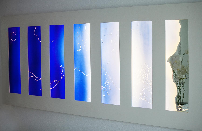 Die Schöpfungsgeschichte in Glas
