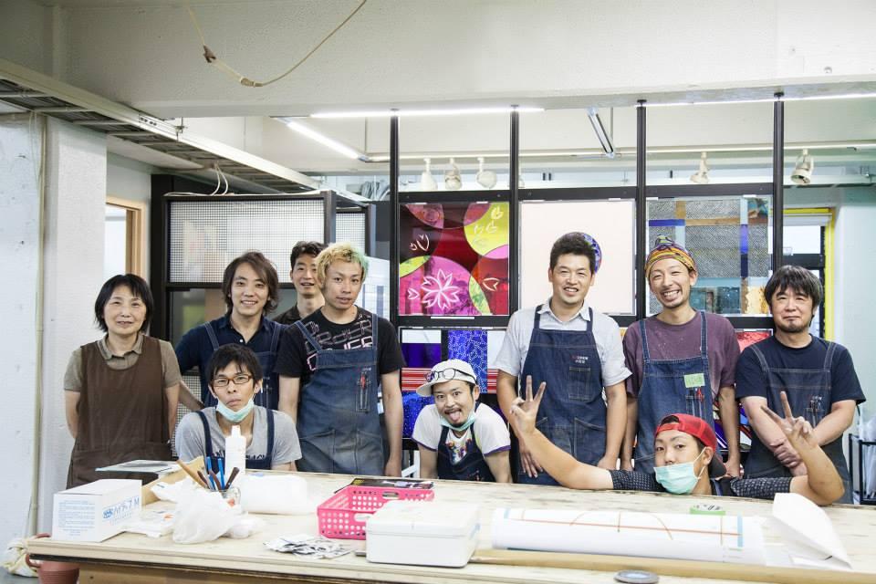 Glas Team AZ Crew Japan,Glaskunst Lea Schulz-Dievenow