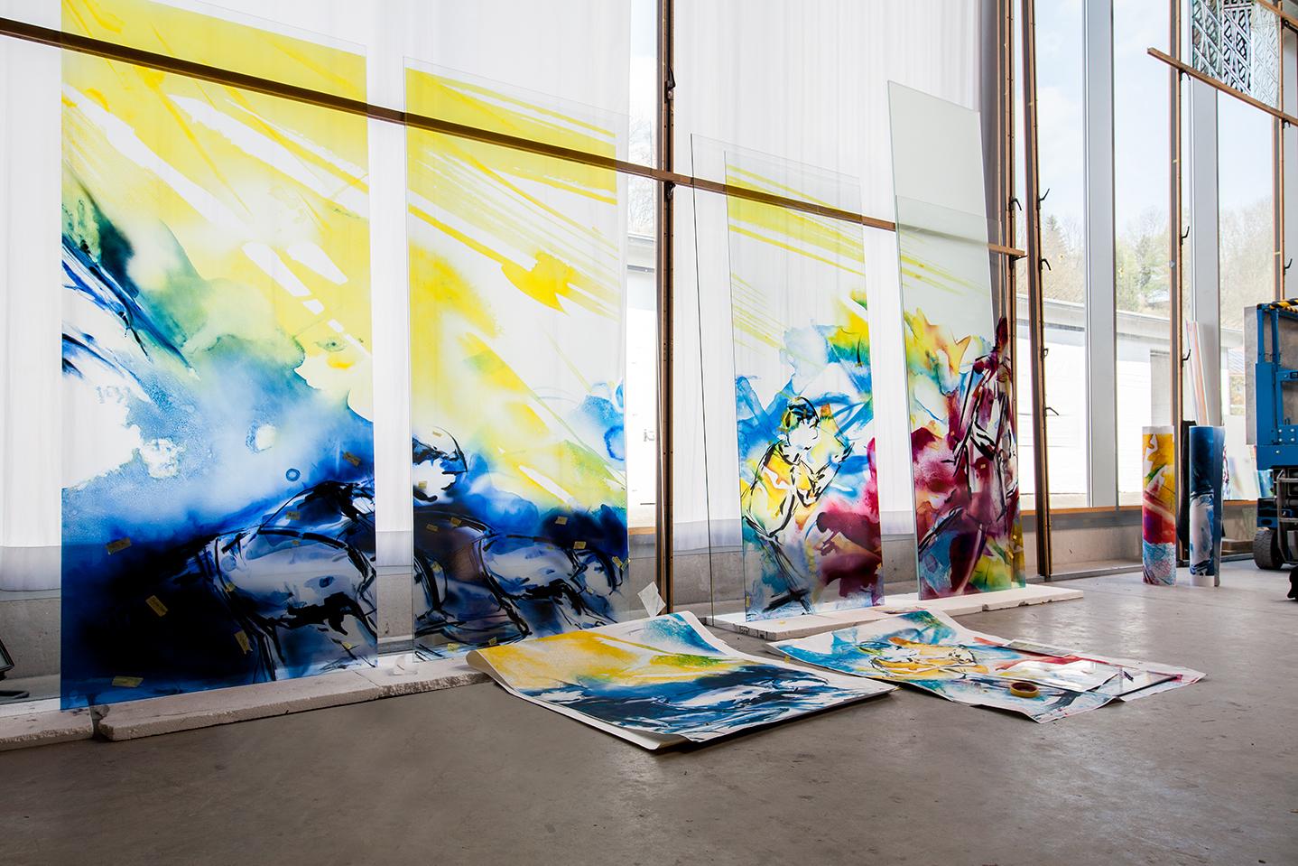 Glaskunst Herstellung Lea Schulz-Dievenow