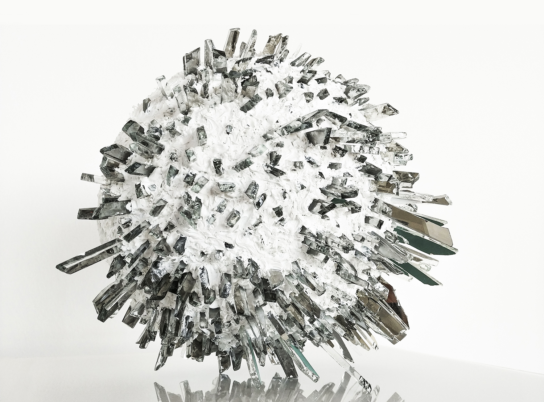 Glaskunstwerk crystel druse