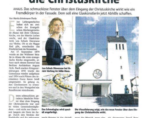 Kirche Ahaus Rundfenster MZ