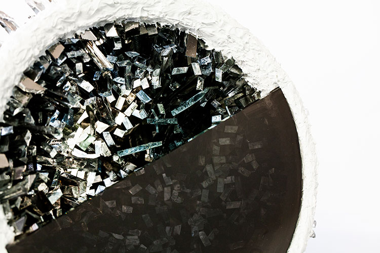 Kunstobjekt Ansicht crystel druse Lea Schulz-Dievenow