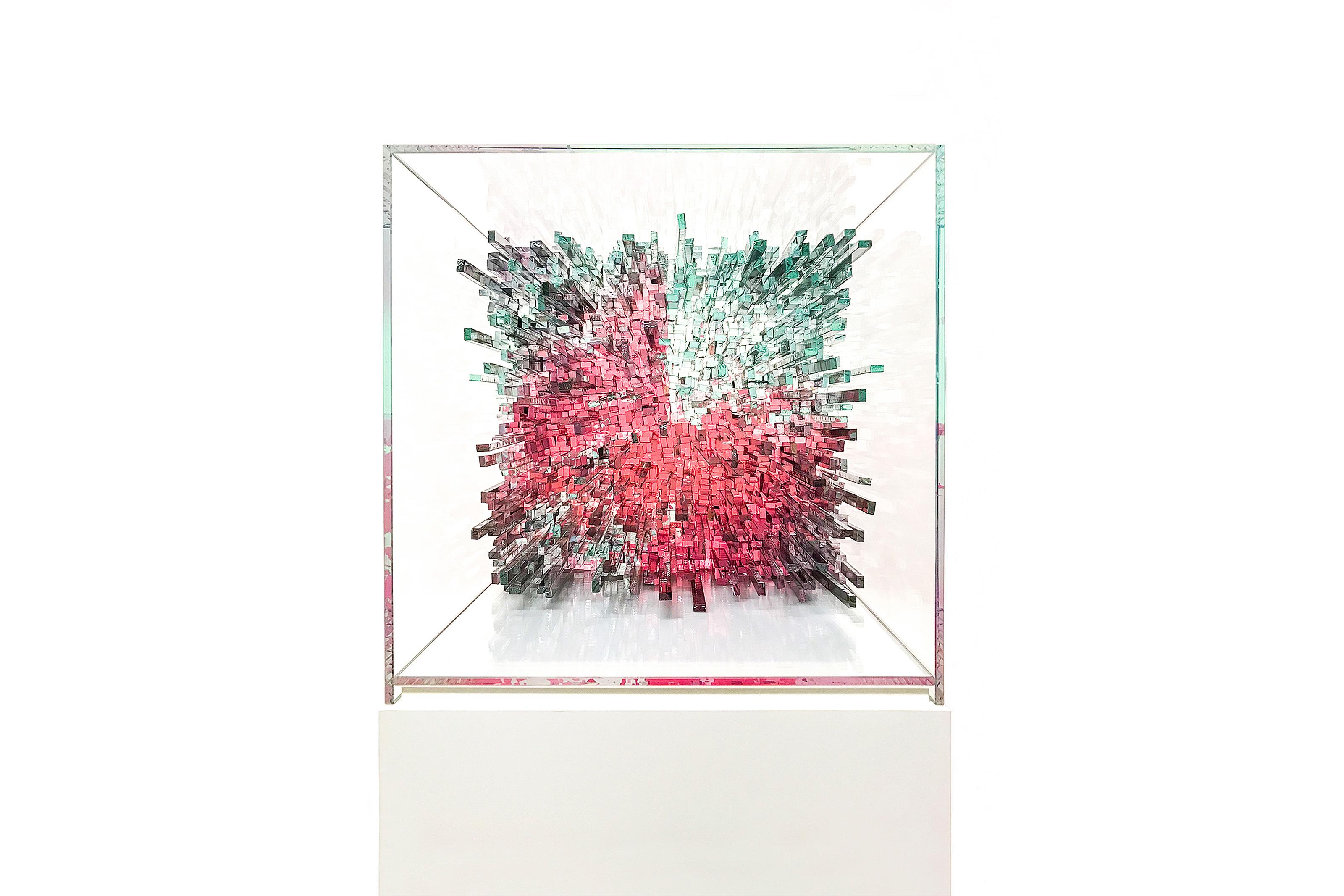 Glaskunst Kunstobjekt dive now Lea Schulz-Dievenow